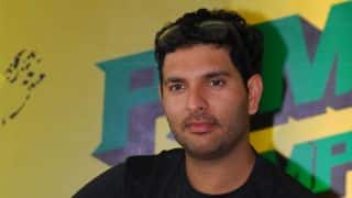Yuvraj Singh interacts with child cancer patients