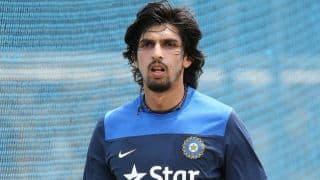 Ishant Sharma bowls at nets with Team India in Visakhapatnam
