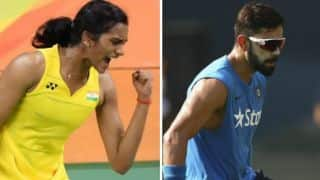 PV Sindhu in Rio Olympics: Kohli congratulates and conveys best wishes ahead of final