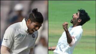दक्षिण अफ्रीका के खिलाफ टेस्ट टीम से बाहर हुए बुमराह, उमेश को मौका