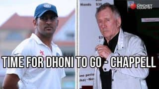 Ian Chappell feels MS Dhoni should give way to Virat Kohli as India's Test captain