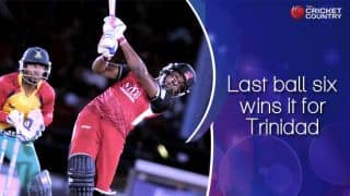 Darren Bravo hits six off the last ball to win CPL match for Trinidad and Tobago Red Steel