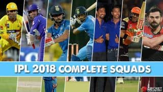 IPL 2018 Auction: Complete list of squads of all franchises