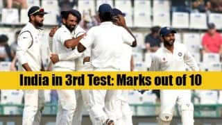 India vs England 3rd Test at Mohali: Marks out of 10 for the hosts