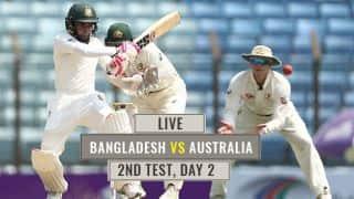 Live Cricket Score, Bangladesh vs Australia, 2nd Test Day 2