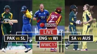 LIVE, ICC Women's World Cup 2017, PAK vs SL, ENG vs WI,, Sa vs AUS: AUS elect to bat, WI opt to bowl