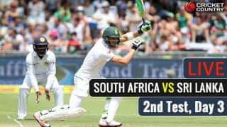 Live Cricket Score, South Africa vs Sri Lanka, 2nd Test at Cape Town, Day 3