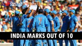 ICC Cricket World Cup 2015: India marks out of 10