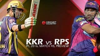 Kolkata Knight Riders vs Rising Pune Supergiants, IPL 2016, Match 45 at Kolkata, Preview: KKR aim to return to top spot