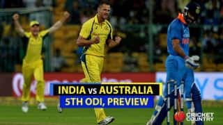 IND vs AUS, 5th ODI, Preview and Likely XI: India eye No.1 spot, Australia '5-4'