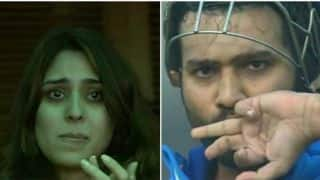 Watch: Rohit Sharma's double-century leaves Ritika Sajdeh in tears of joy