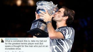 Roger Federer lifts Australian Open 2017; cricket fraternity celebrates