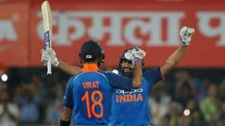 Rohit Sharma set to overtake Martin Guptill in Twenty20 Internationals