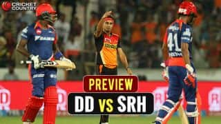 Delhi Daredevils (DD) vs Sunrisers Hyderabad (SRH) IPL 2017, Match 40 preview and likely XIs: SRH eye top spot; DD look for redemption