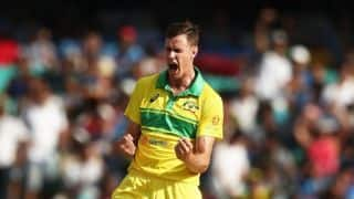 भारत के खिलाफ मेलबर्न वनडे में पेसर जेसन बेहरेनडॉर्फ को खेलना संदिग्ध