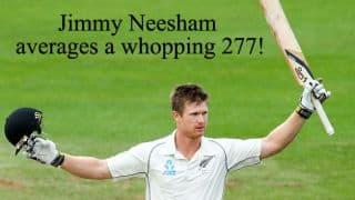 Neesham achieves highest average by a Kiwis batsman