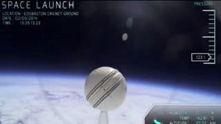 ECB send cricket ball to edge of space