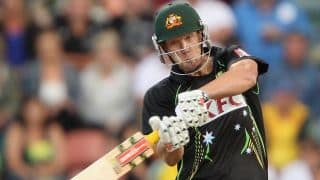 Cameron White, Aaron Finch propel Australia to huge total in 1st T20 at Hobart