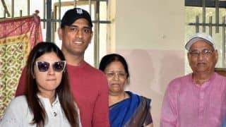 IPL 2019, MI vs CSK: Ahead of Qualifier 1 in Chennai, MS Dhoni makes a flying visit to Ranchi to vote