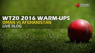 Live Cricket Score Oman vs Afghanistan, ICC World T20 2016, Oman vs AFG Warm-up T20 Match at Mohali