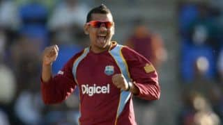 Sunil Narine withdrawn from India-West Indies ODI series
