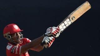 Wriddiman Saha departs for Kings XI Punjab against Kolkata Knight Riders in IPL 2014