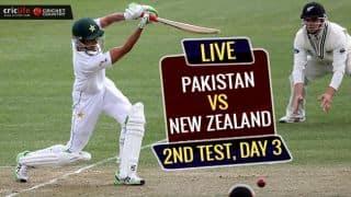 NZ 0/0 & NZ 271, PAK 216 | Live Cricket Score, Pakistan vs New Zealand, Day 3, 2nd Test at Hamilton: STUMPS