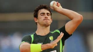 Mitchell Starc completes 50 ODI wickets during 1st game of tri-series against England