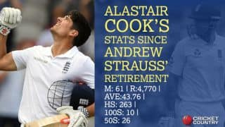 In Numbers: Cook and his 11 opening partners since Strauss