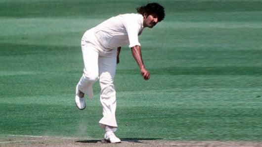 Sarfraz Nawaz captures 7 for 1 in an innings haul of 9 for 86