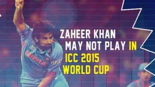 Zaheer Khan remains non-committal about playing in ICC 2015 World Cup