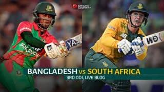 Live Cricket Score, Bangladesh vs South Africa 2015, 3rd ODI at Chittagong, BAN 170/1 after 26.1 overs: BAN thrash SA