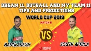 Dotball Prediction, Dream11 Prediction, My Team 11 Prediction: BAN vs SA Cricket World Cup 2019, Match 5 Team Best Players to Pick for Today's Match between Bangladesh and South Africa at 3 PM