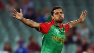 Mashrafe Mortaza likely to miss ODI series against West indies