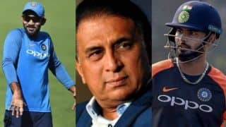 Sunil Gavaskar picks Dinesh Karthik over Rishabh Pant in India's World Cup 2019 squad