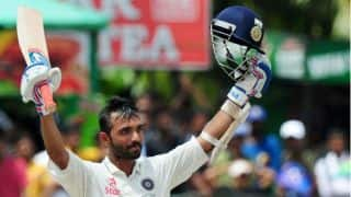 Rahane's ton gives India pole position at tea against Sri Lanka in 2nd Test at Colombo