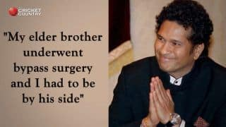 Tendulkar explains reason for absence from Rajya Sabha
