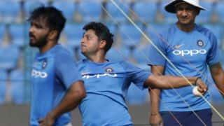Kuldeep Yadav bowls with wet balls at nets ahead of 1st T20I vs New Zealand