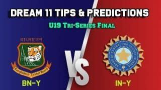 Dream11 Team Bangladesh U19 vs India U19, Final, U-19 Tri-series– Cricket Prediction Tips For Today's match BN-Y vs IN-Y at Hove