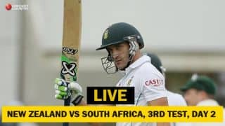 Live Cricket Score, NZ vs SA, 3rd Test, Day 2: Rain halts play