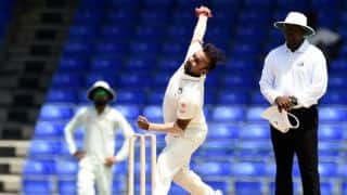 Amit Mishra draws first blood on Day 3