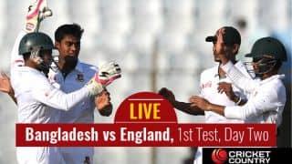 Live Cricket Score, Bangladesh vs England, 1st Test, Day 2 at Chittagong: STUMPS