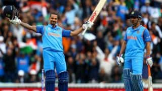 Shikhar Dhawan's century, MS Dhoni, Rohit Sharma's fifties power India to 321 for 5 against Sri Lanka in Match 8 of ICC Champions Trophy 2017