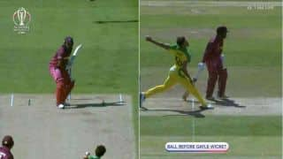 Cricket World Cup 2019: Umpire Chris Gaffaney fails to spot huge no-ball by Mitchell Starc before Chris Gayle's dismissal