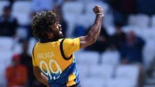 Lasith Malinga's four-wicket haul inspires Sri Lanka famous 20-run win over England at Leeds