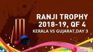 Ranji Trophy 2018-19, QF 4, Day 3: Kerala crush Gujarat by 113 runs to enter semis for first time ever