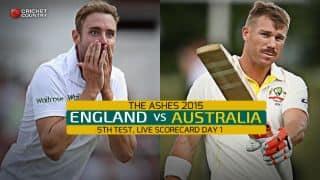 Live Cricket Scorecard: England vs Australia, 5th Test, The Oval, Day 1