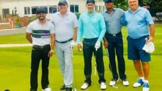 MS Dhoni played golf with Jadhav on National Sports Day