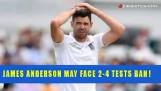 James Anderson may face 2-Test match ban for abusing Ravindra Jadeja