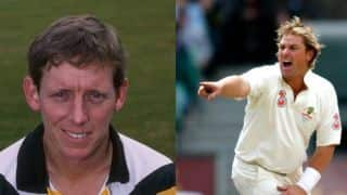 Shane Warne and Andrew Hudson almost come to blows